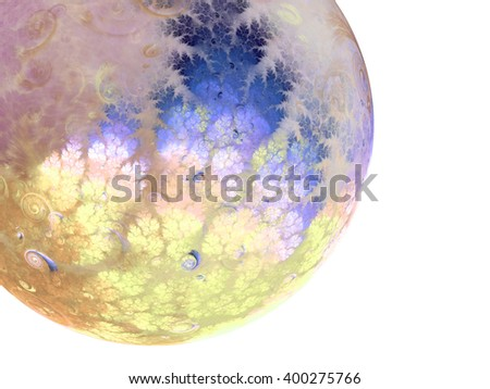 Abstract fractal sphere, digital artwork for creative graphic design - stock photo