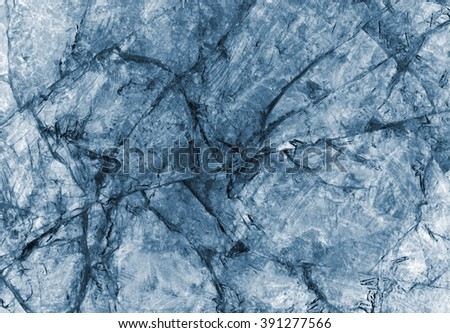 abstract frozen background of ice closeup, x-ray effect - stock photo