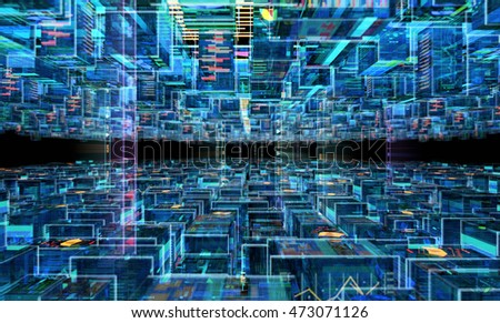 Abstract Futuristic Background. 3D illustration
