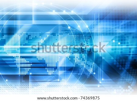 Abstract futuristic global background - stock photo