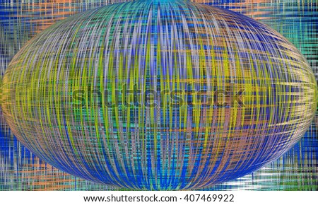 Abstract Futuristic Globe. Art background for creative design. Decoration for wallpaper desktop, poster, cover booklet. Abstract texture. Print for clothes, t-shirt.