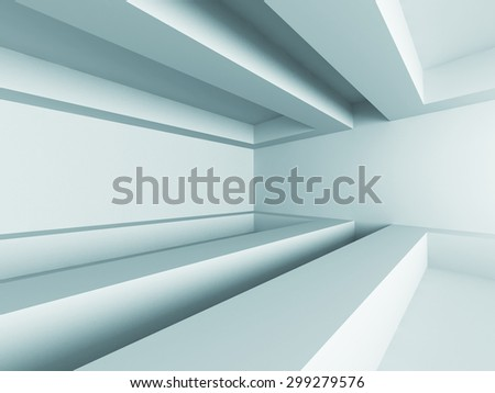 Abstract Futuristic Modern Empty Interior Background. 3d Render Illustration - stock photo