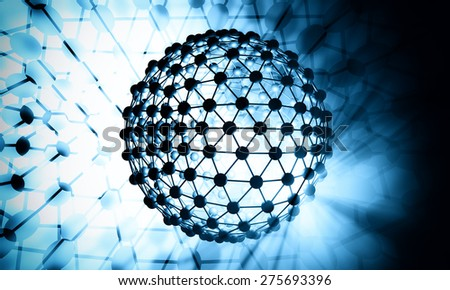 Abstract futuristic molecules technology background