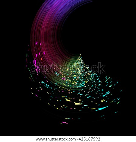 Abstract futuristic moving lines and arrows, conceptual background. Ideal for technology concept works, brochure and flyer cover template designs. - stock photo