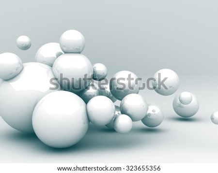 Abstract Futuristic Sphere Reflect Background. 3d Render Illustration - stock photo