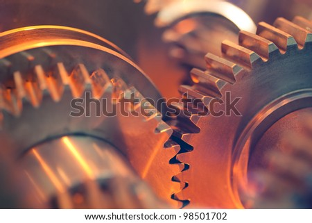abstract gears - stock photo