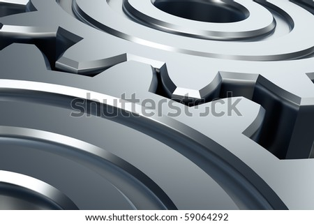 Abstract gears. 3D illustration. - stock photo