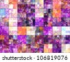 Abstract generated colorful light pattern graphic background - stock photo