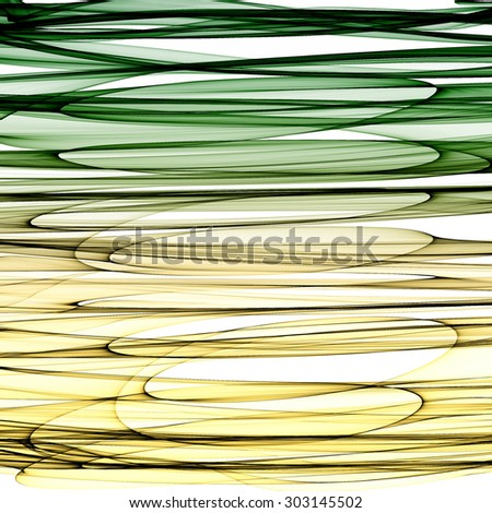Abstract generated striped green yellow pattern background - stock photo