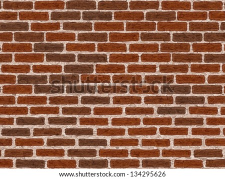 Abstract generated weathered brick wall surface vintage background - stock photo