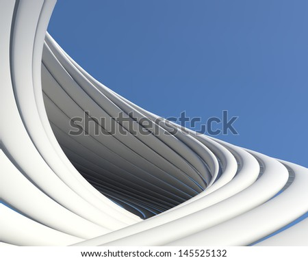 Abstract geometric architectural design. Beautiful luxury futuristic background - stock photo