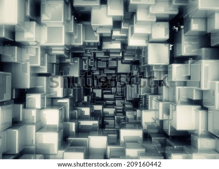 Abstract geometric background - stock photo