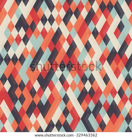 Abstract geometric background for business, web design, print.  Colorful rhombus seamless pattern. Repeating geometric tiles from color rhombuses. - stock photo