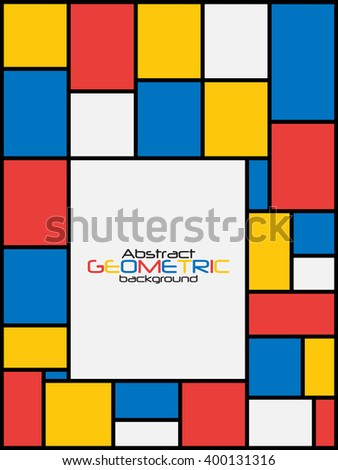 Abstract Geometric Background Illustration  - stock photo