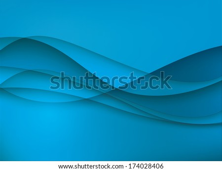Abstract geometric background image with blue stripes - raster version of vector illustration - stock photo