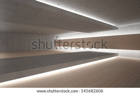 Abstract geometric background of the concrete and wood
