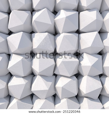 Abstract geometric background of the concrete. 3d photorealistic render.  - stock photo