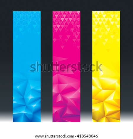 Abstract geometric background vertical banners. - stock photo