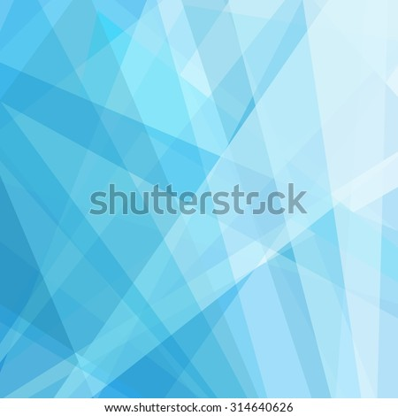 abstract geometric blue and white background, fresh clean lines and soft gradient color in bright shades of sky blue, contemporary or modern art style background, digital layout for website design - stock photo