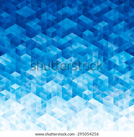 Abstract geometric blue texture background. - stock photo
