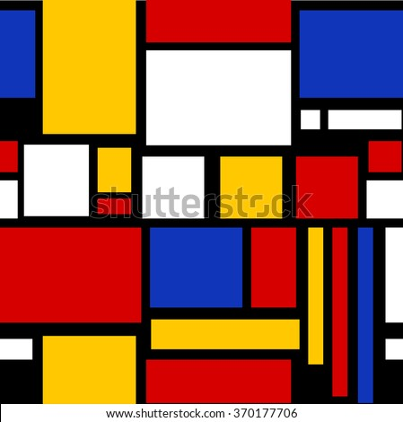 Abstract geometric colorful pattern for continuous replicate - stock photo