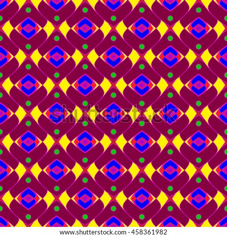 Abstract geometric colorful seamless pattern.