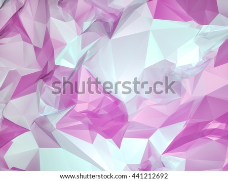 Abstract Geometric Low Poly Pink And Light Blue Background Coloured Color Gems High