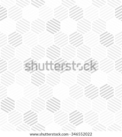 Abstract geometric pattern by lines. A seamless background. Gray and white texture. - stock photo