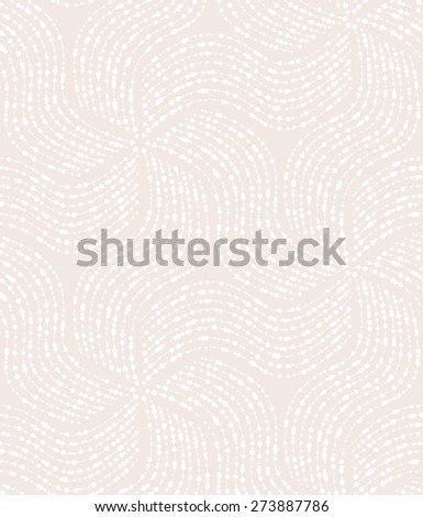 Abstract geometric pattern of the points, lines. A seamless  background. Beige and white texture. - stock photo