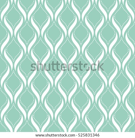 Abstract geometric pattern with points. A seamless  background. Blue and white texture