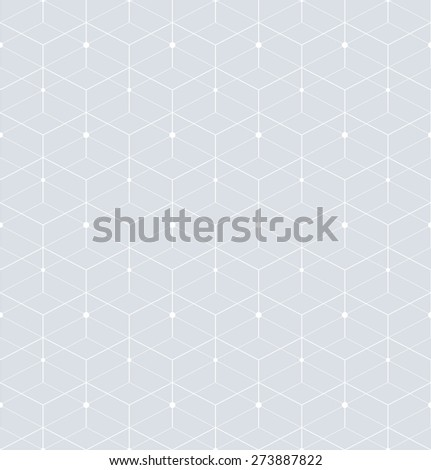 Abstract geometric pattern with rhombuses. Repeating seamless background. Gray and white texture. - stock photo