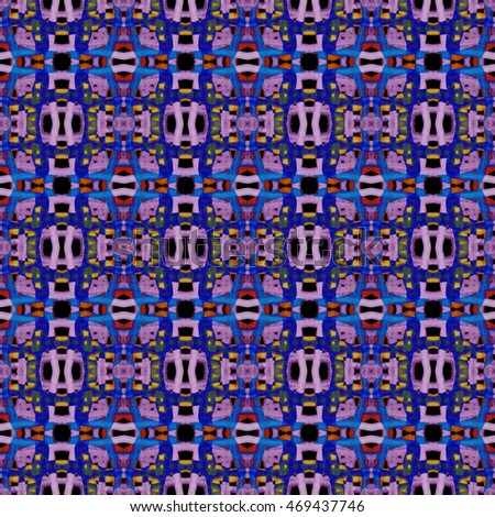 Abstract geometric seamless pattern handmade ethnic and tribal motifs. Bohemian ethnic tile printing.