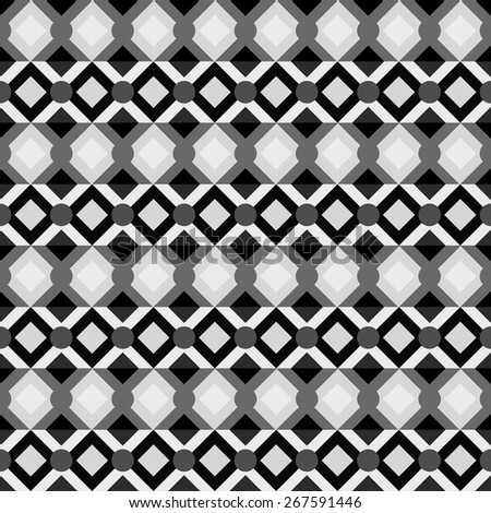 Abstract geometric seamless pattern. Modern monochrome background texture  - stock photo