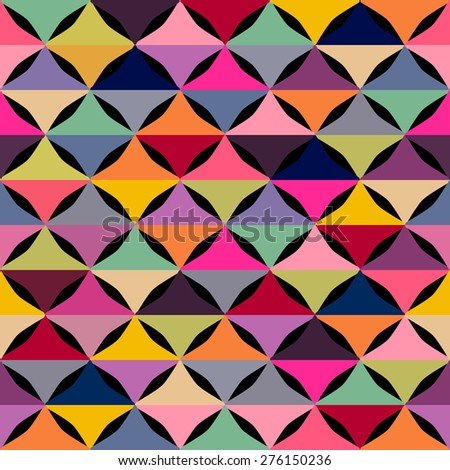 Abstract geometric seamless pattern with multicolored shapes. raster version illustration can be copied without any seams. Colorful mosaic backdrop - stock photo