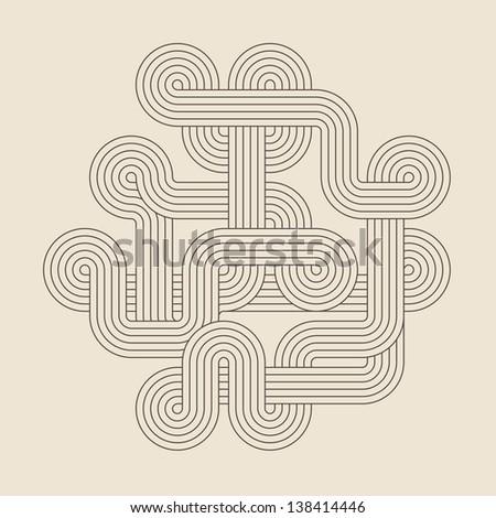 Abstract geometric shape - stock photo