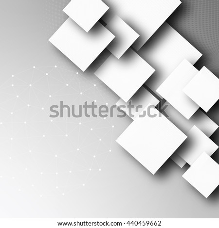 Abstract geometric shape from gray rhombus