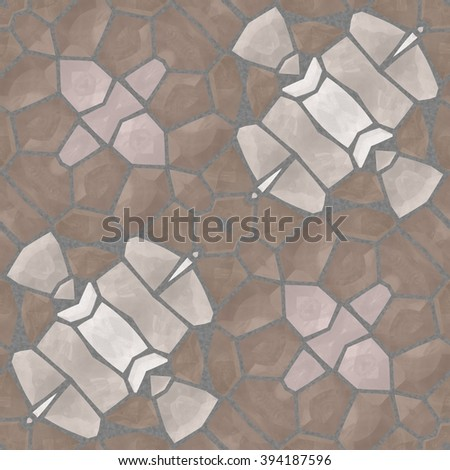 Abstract geometric square soft gray-brown mosaic pattern