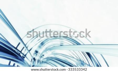 Abstract geometric technology design - stock photo