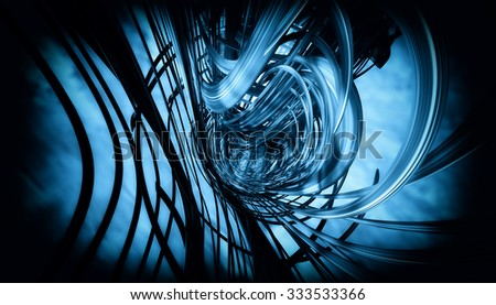 Abstract geometric technology design - stock photo