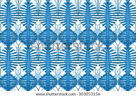 Abstract geometrical blue  seamless pattern background - stock photo