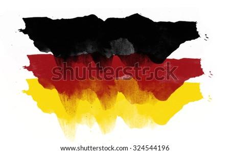 Abstract German flag - stock photo