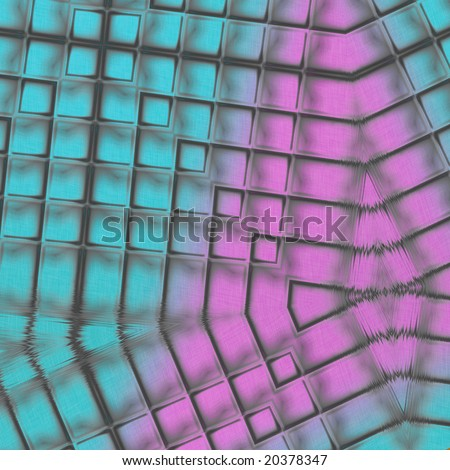 Abstract Glass design element for background, pattern, or texture