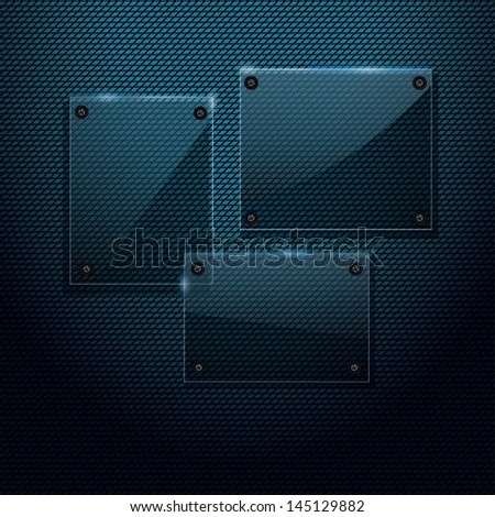 Abstract glass panels - stock photo