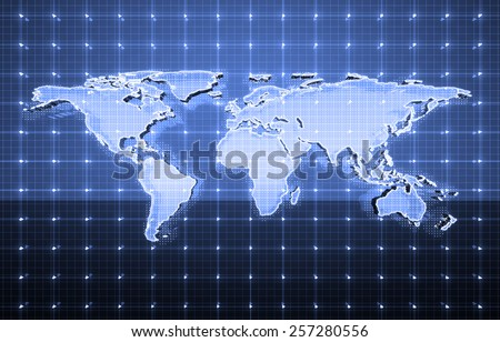 abstract global future technology, electric telecom background - stock photo
