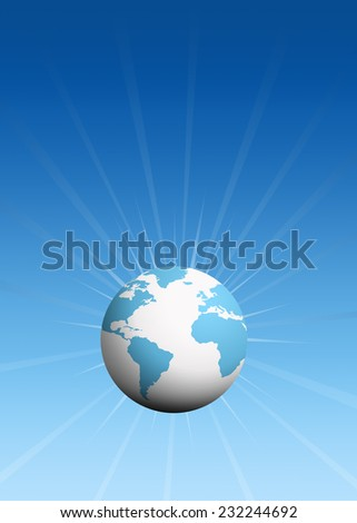 Abstract globe background - stock photo