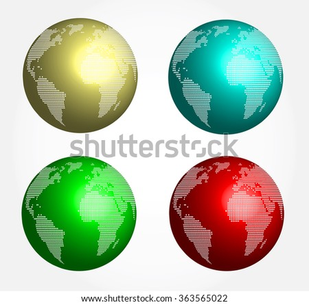 abstract globe - sphere - stock photo