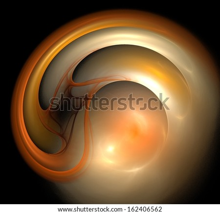 Abstract globe twisting and turning in on a black background - stock photo
