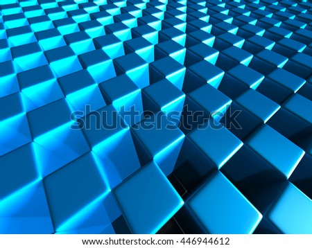 Abstract Glossy Cubes Design Background. 3d Render Illustration - stock photo