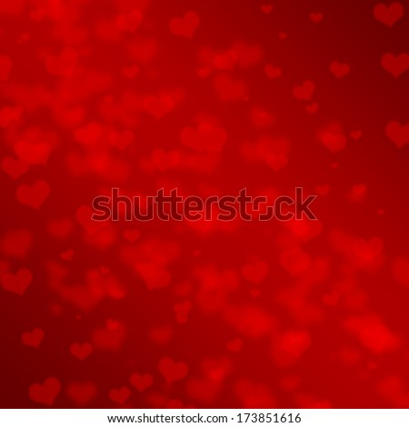 Abstract Glow Soft Hearts for Valentines Day Background Design.  - stock photo