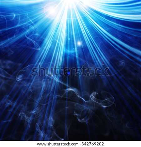 abstract glowing background with abstract white smoke